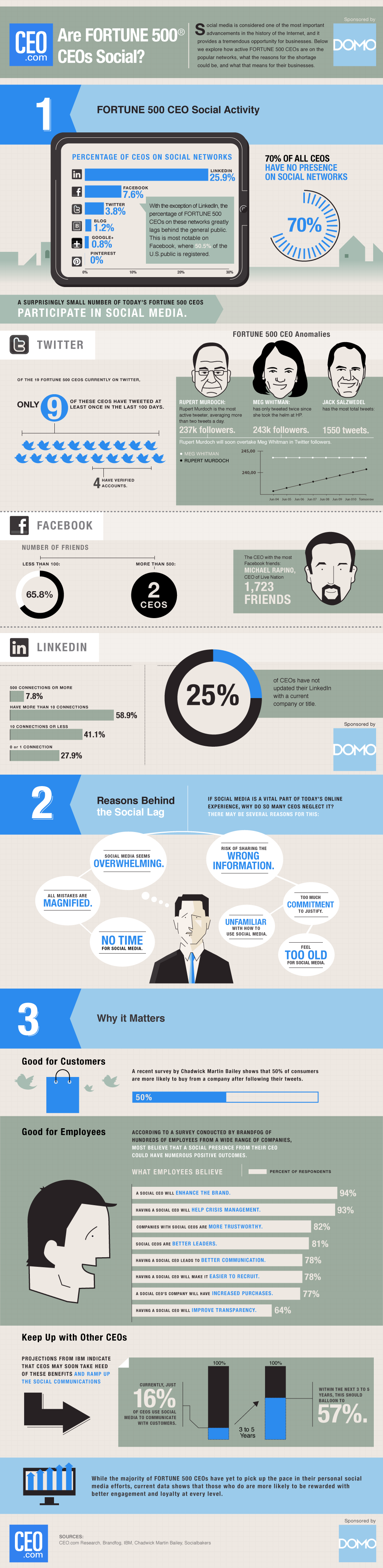 CEO.com Infographic on CEO Social Engagement